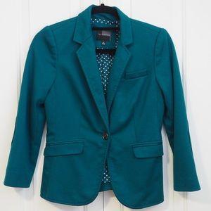The Limited Blazer Emerald Green Pockets 1 Button